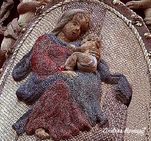 """Manto de la Virgen de la Victoria. """"Cigarreras"""" . Detalle del Manto"""